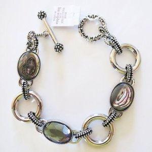 Lia Sophia Abalone and Crystal Epiphany Bracelet